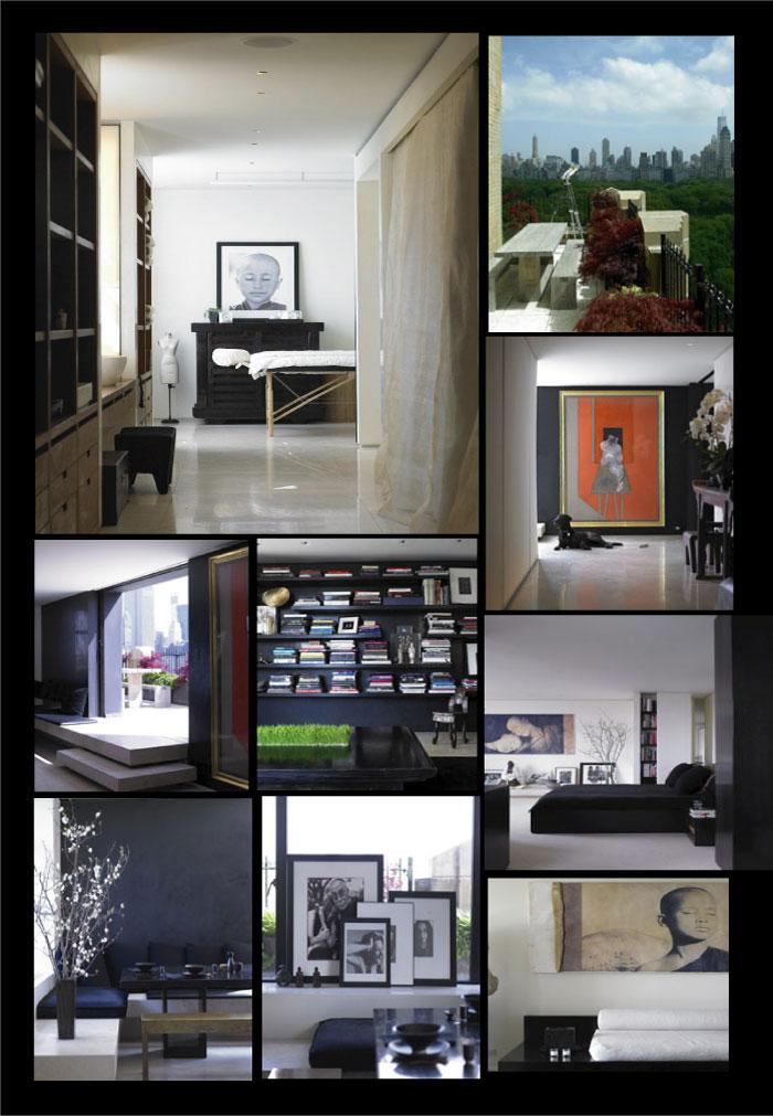 chez DONNAKARAN- l'appartement newyorkais de Donna Karan, créatrice DKNY