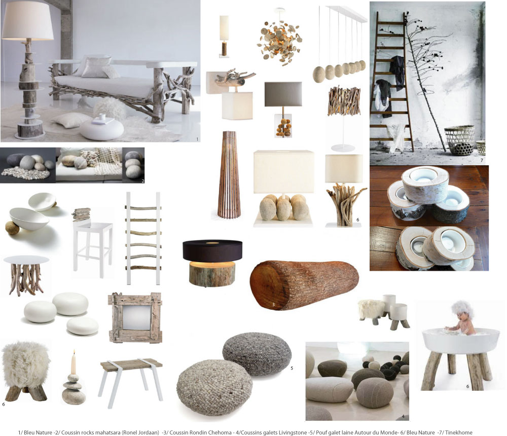 Bois brut dans la d co esprit nature chiara stella home for Salon deco nature