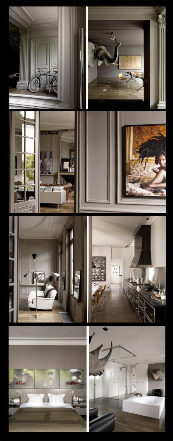 palisse jean marc- photographe artd e vivre- tête d'animaux dans appartement taupe- chiara stella home