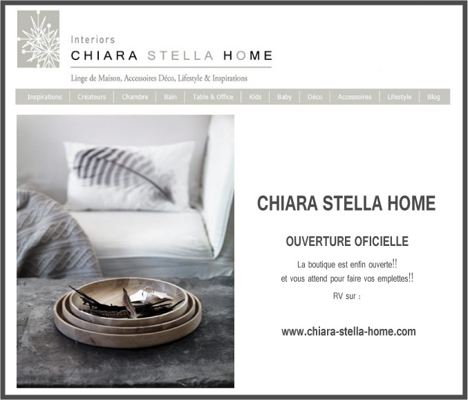 linge de maison chiara stella home. Black Bedroom Furniture Sets. Home Design Ideas