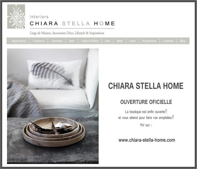 ouverture e-boutique de déco et linge de maison chiara stella home
