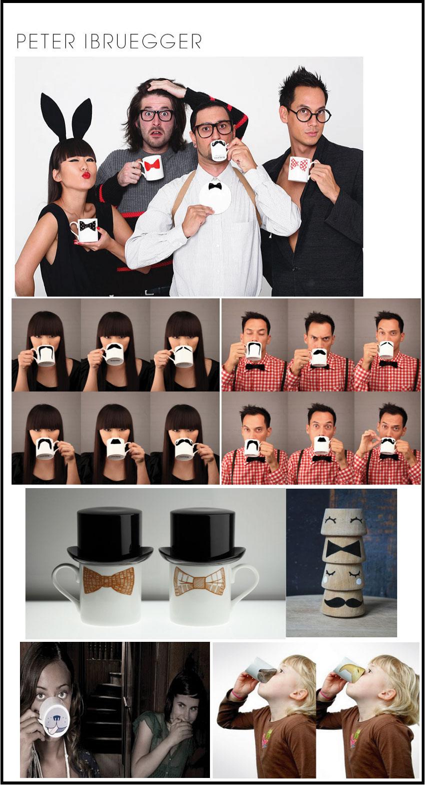 tasses moustaches ou noeud paillon de peter-ibruegger par chiara stella home