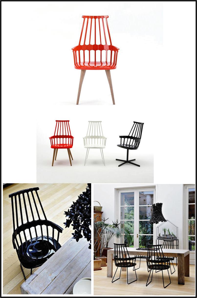 Comback-Chair par patricia urquiola, style windsor revisité,  par chiara stella home