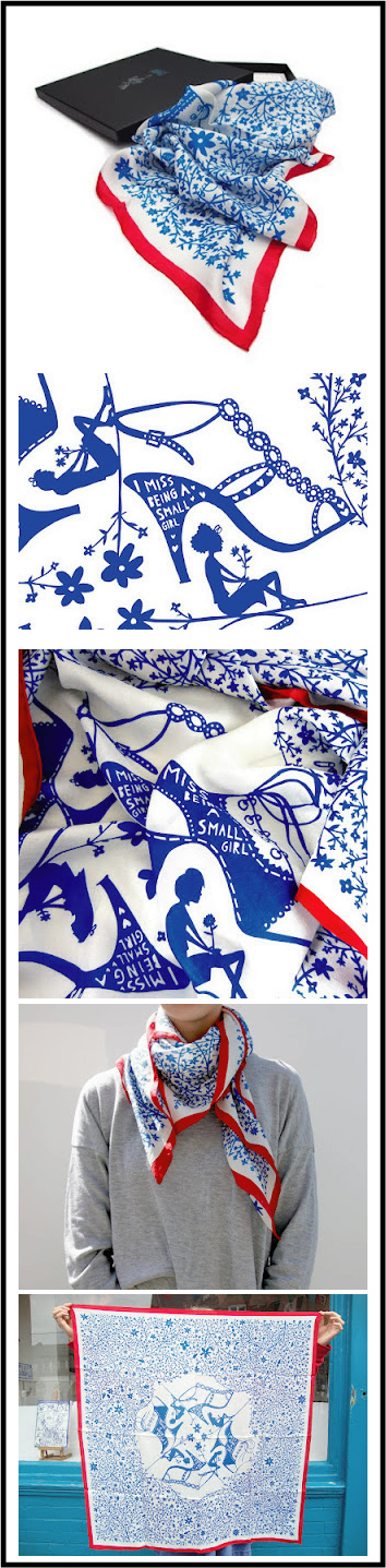 rob-ryan foulards en soie en édition limitée par chiara stella home