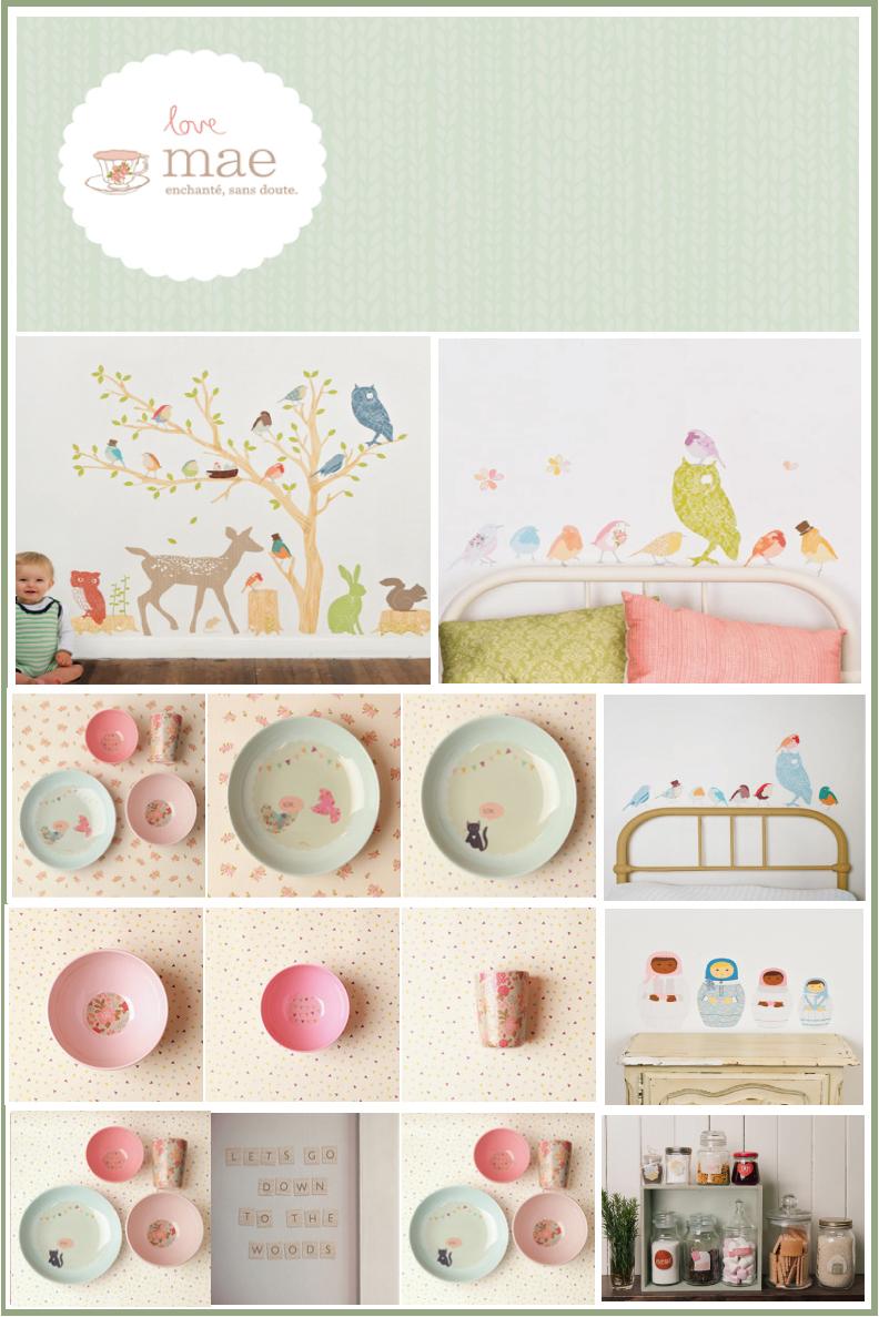 love-mae vaisselle en mélamine pour enfants, stickers chambre enfants, mini stickers aux coloris pastels sélectionné par chiara stella home