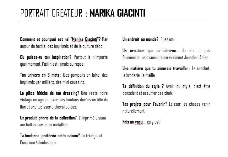 portrait createur marika giacinti et ses coussins décoratifs par chiara stella home