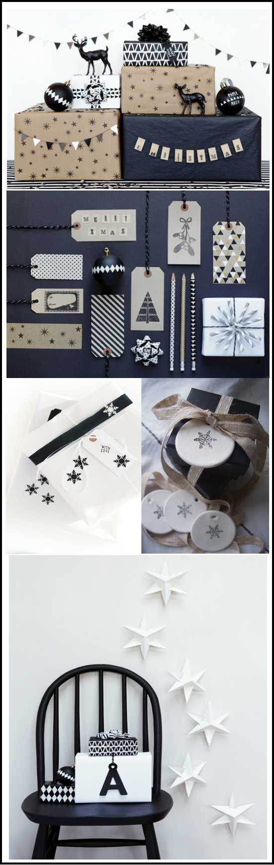 idees d'emballages cadeaux design noir et blanc par chiara stella home