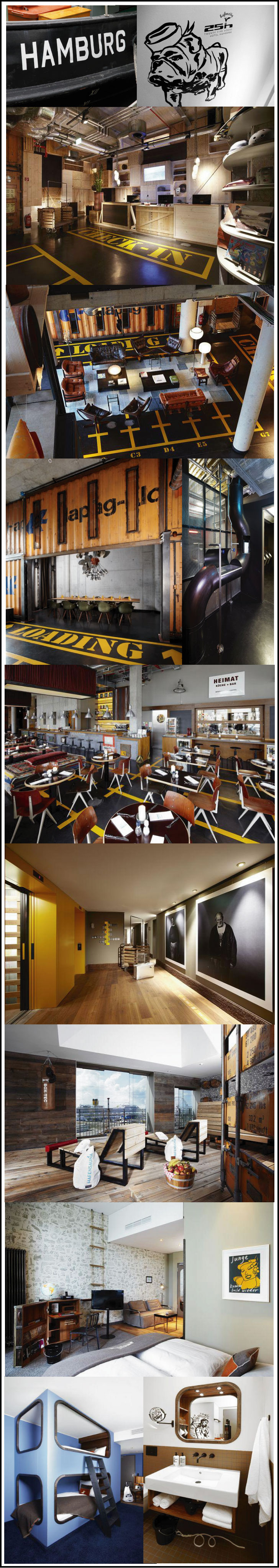 hafencity-hotel-hambourg deco marine et industrielle
