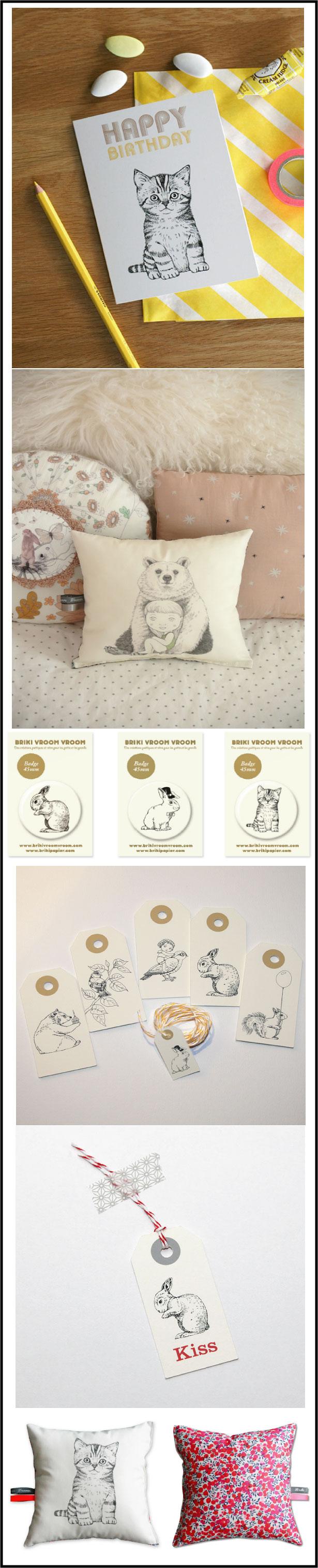 BRIKI-VROOM-VROOM créations poetiques et retro pour chambres enfants