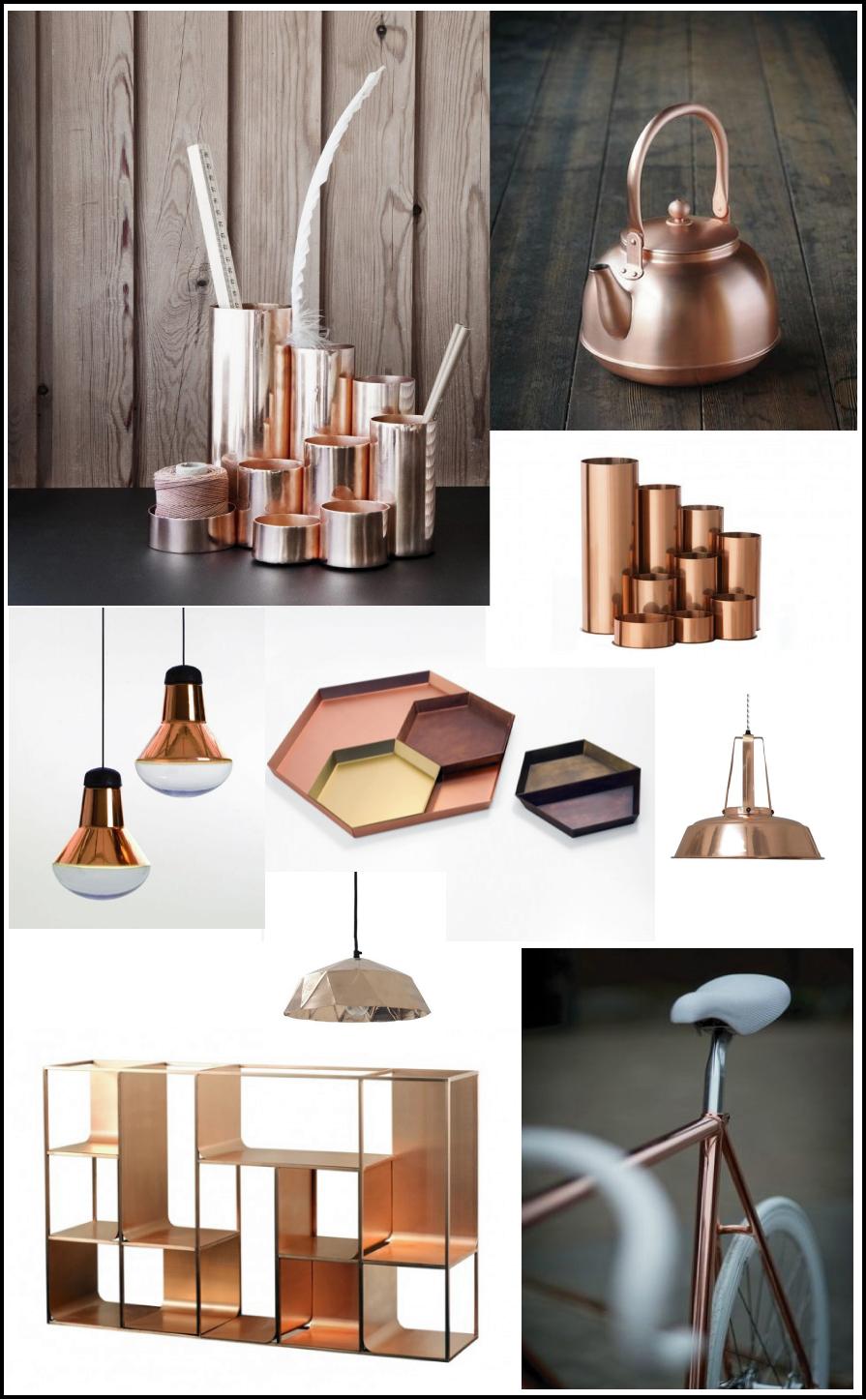 cuivre Wish list objets cuivre par e-boutique deco chiara stella home