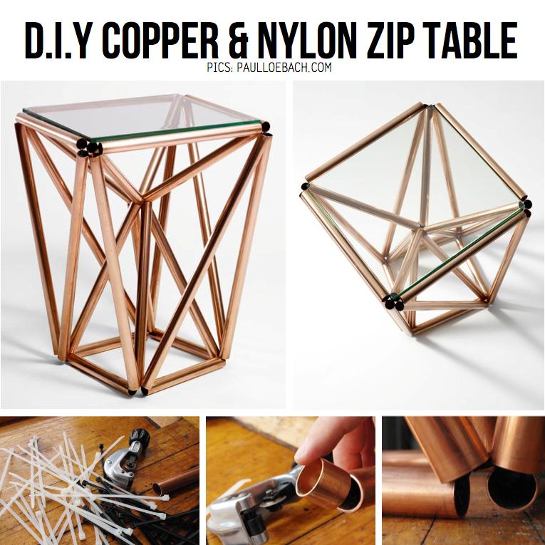 table tubes cuivre paul loe bach design cuivre par chiara stella home
