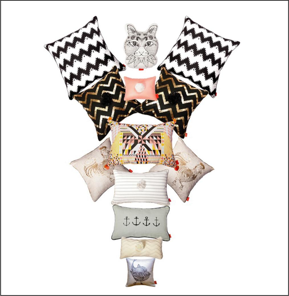 marika-giacinti-coussin decoratif mariniere, chat , coq, chiara stella home