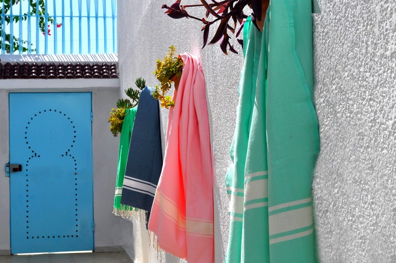 fouta tunisien tissage plat by johanne coloris divers. (1)