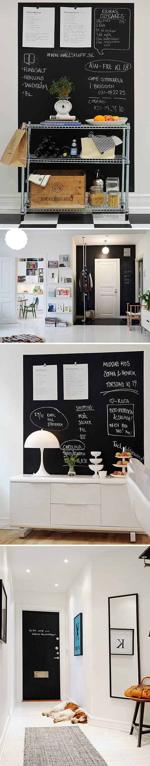 tableau noir en cuisine chiara stella home
