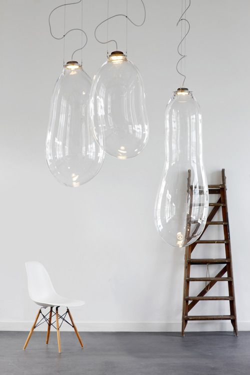 glass pendant light/ lampes bulle en verre