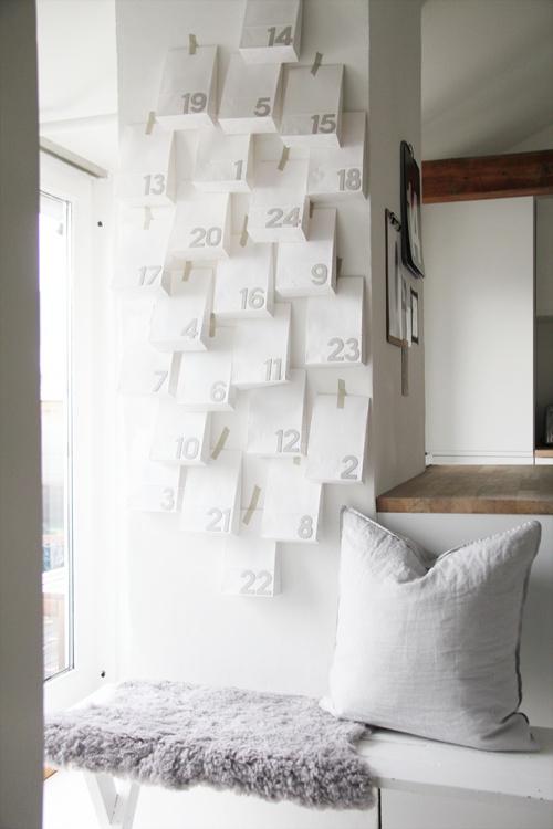 calendrier de l'avent DIY mur