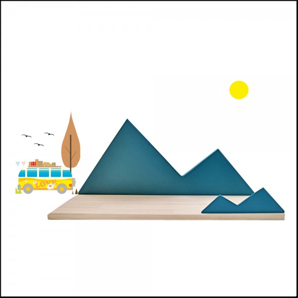 etagere en bois bleu design montagne mountain coccoli home chiara stella home