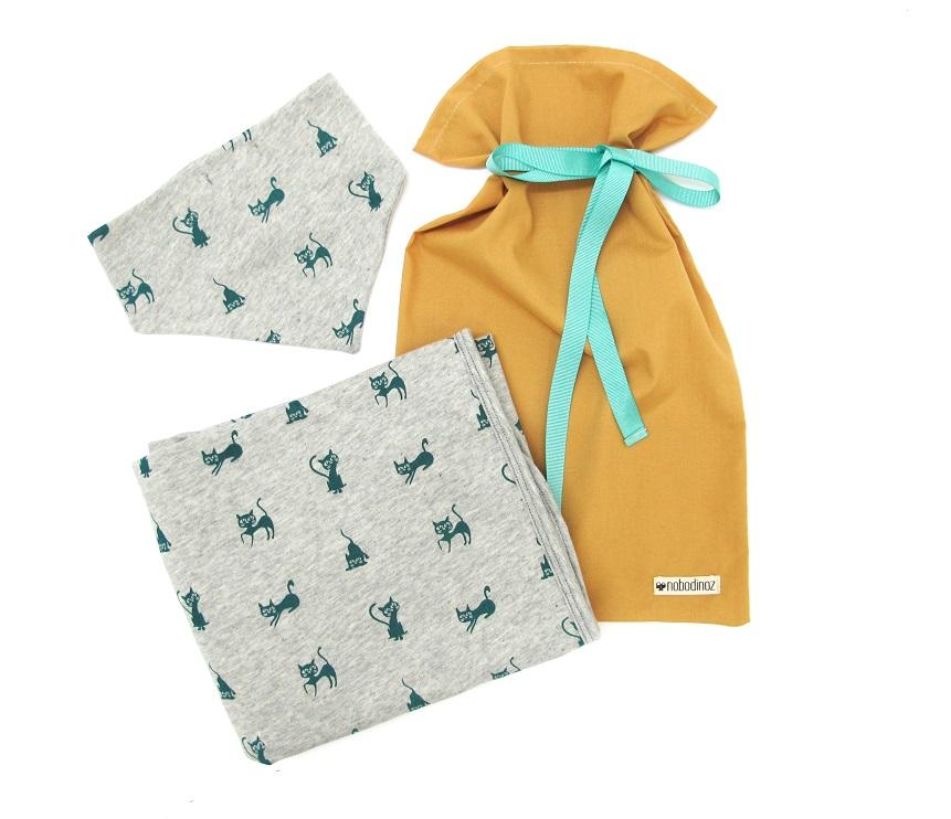 cadeau de naissance kit naissance couverture et bandana nobodinoz
