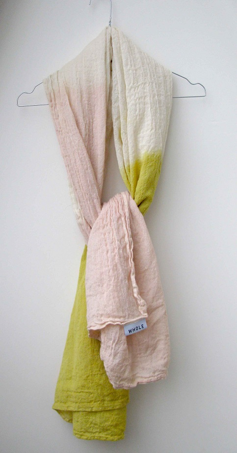 WHOLE_foulard_scarf_pink_yellow_by CHIARA STELLA HOME