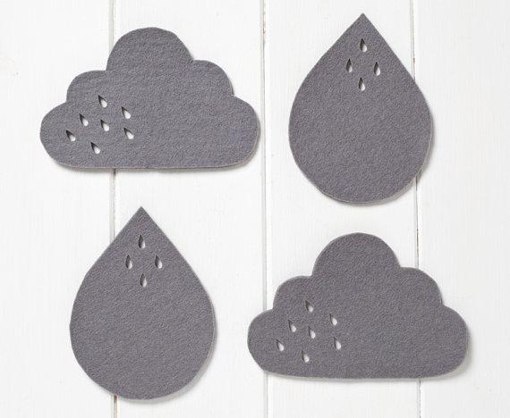 pygmy cloud sous verre nuage  et goutte pluie feutre gris petit cadeau sympa chiara stella home.2