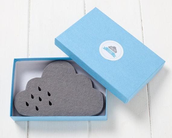 pygmy cloud sous verre nuage  et goutte pluie feutre gris petit cadeau sympa chiara stella home3