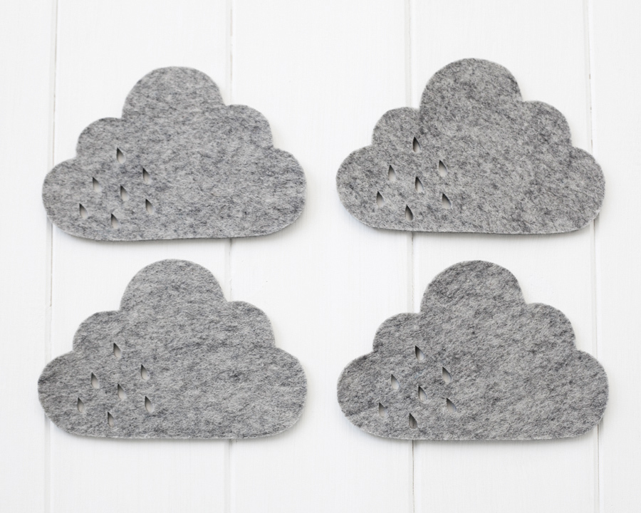 pygmy cloud sous verre nuage feutre gris chiné chiara stella home2