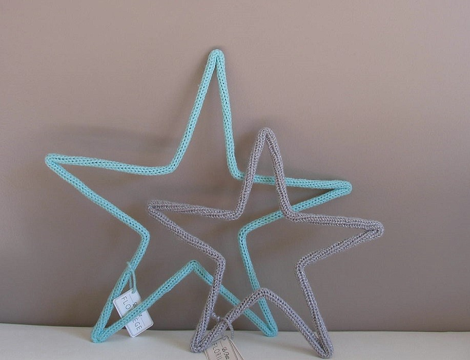 etoile en laine  vert d'eau, etoile en laine decoration enfant le petit florilege pour chiara stella home