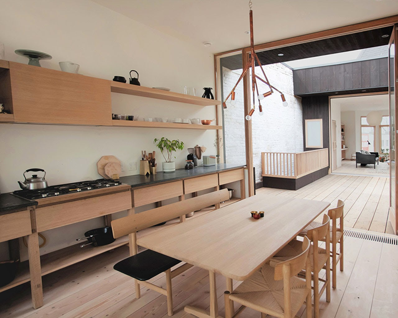 Amenagement Salon Beige Taupe : cuisine design japonaise