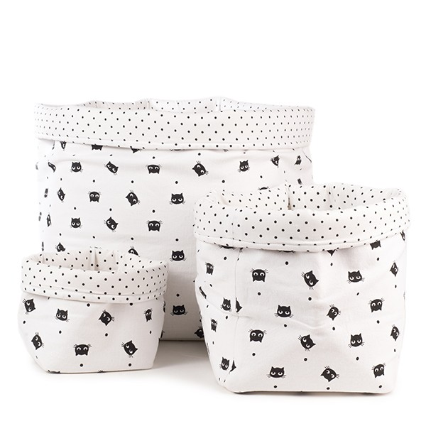 panier-rangement-rose-in-april-chats-blanc-noir-grand chiara stella home