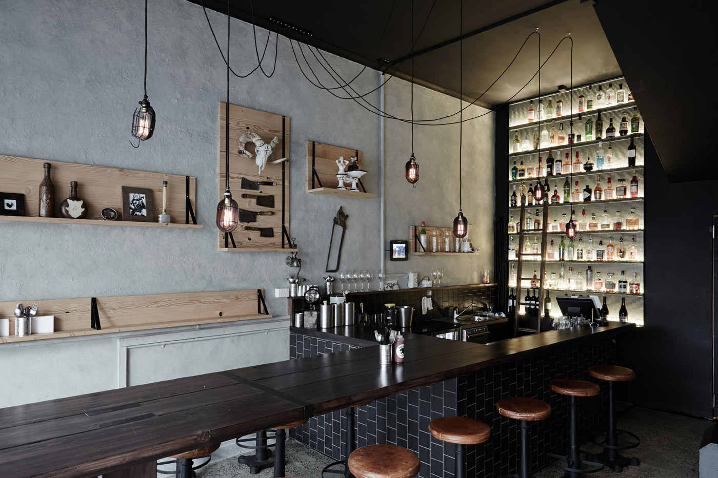 bar restaurant industriel chiara stella home. Black Bedroom Furniture Sets. Home Design Ideas