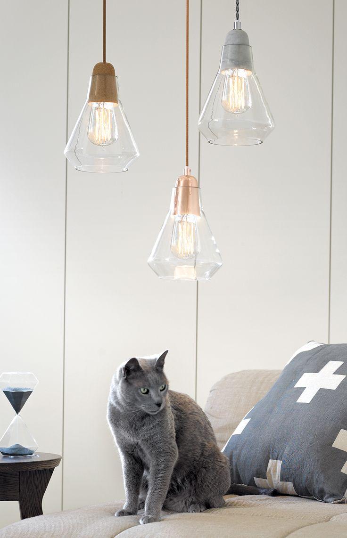 luminaire beton , cuivre josh and jenna par chiara stella home 12