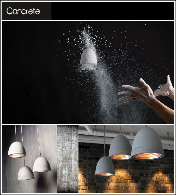luminaire beton lampe beton concrete chiara stella home