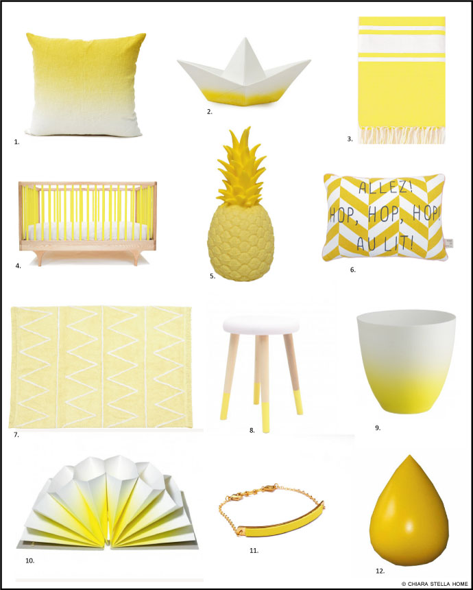 Lampe ananas chiara stella home for Decoration jaune