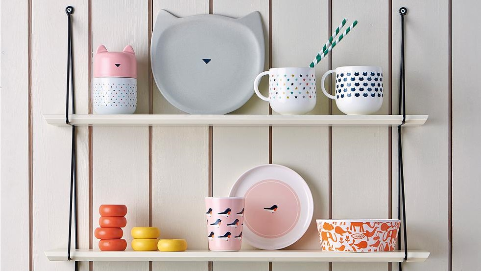 pot chat rose bandjo en porcelaine