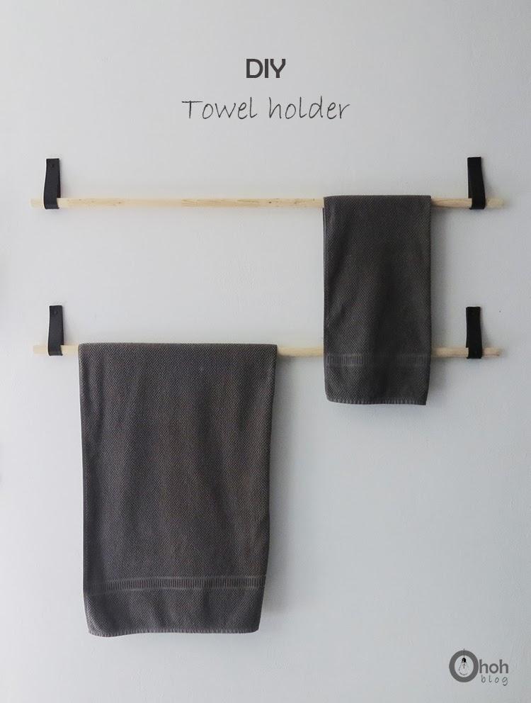 diy porte serviette design cuir et bois oh oh blog