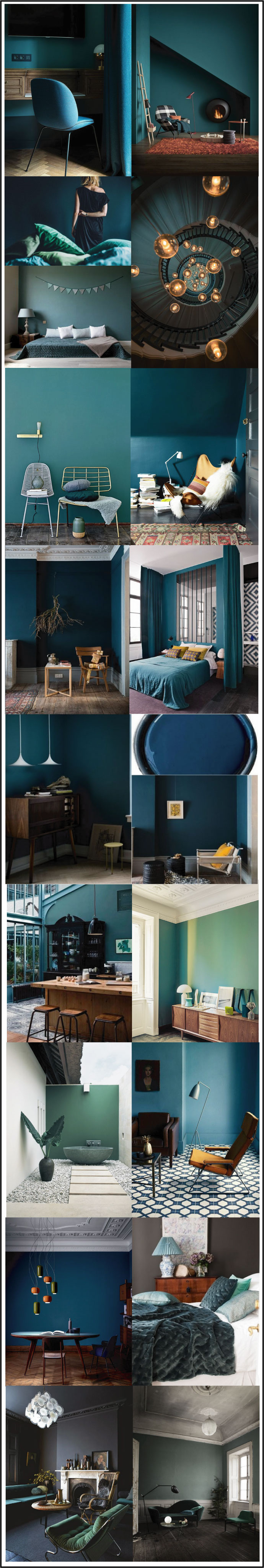 nuances de bleu vert vert balsam bleu p trole bleu paon bleu canard chiara stella home. Black Bedroom Furniture Sets. Home Design Ideas