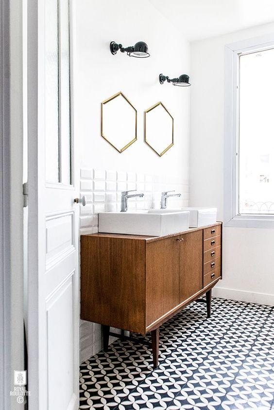 meuble-salle-de-bains-miroir salle de bain- design- par chiara-stella-home8