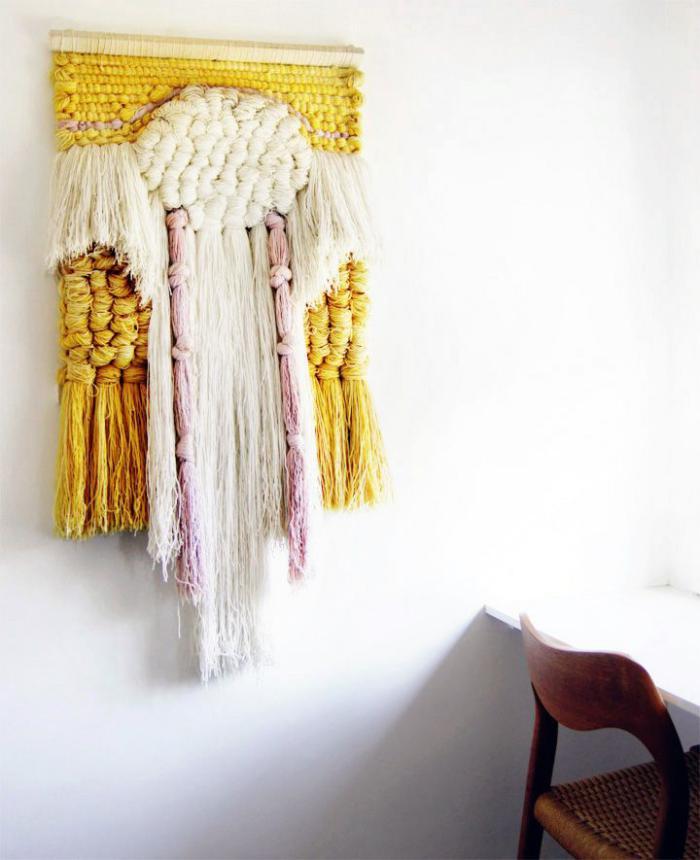 tentures-murales-belle-pièce-dart-en-textile
