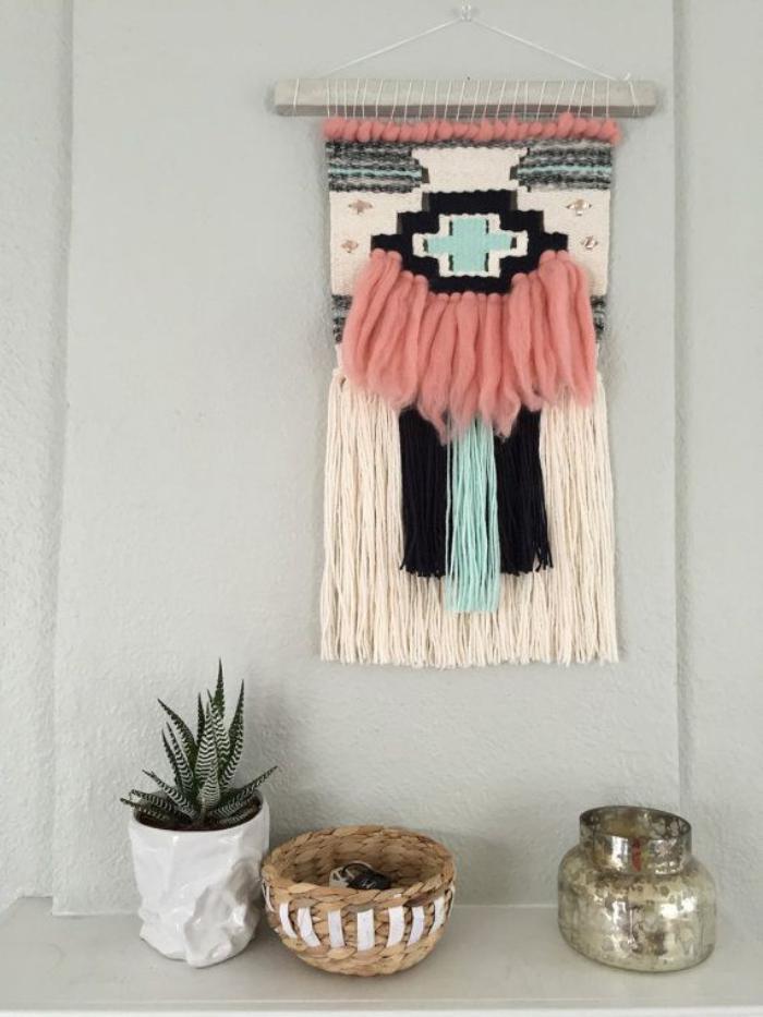 tissage mural macrame la tendance boho chiara stella. Black Bedroom Furniture Sets. Home Design Ideas