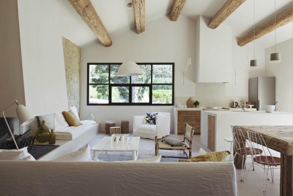 marie laure helmkampf interieur blanc white interior mas proven al chiara stella home. Black Bedroom Furniture Sets. Home Design Ideas